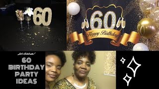60th birthday party decoration ideas + my parents 60th surprise party vlog