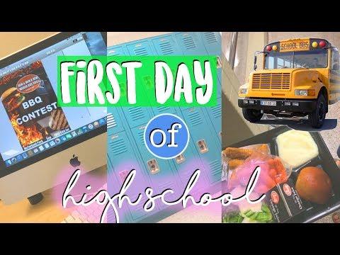 ERSTER SCHULTAG AN HIGH SCHOOL 🇺🇸 Lunch, Kurse etc. ♥︎ Jackie Alice