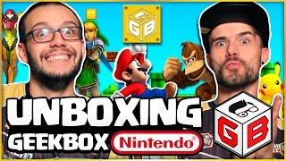 UNBOXING GEEKBOX   BOX#01 - NINTENDO   GEEKSTER BRASIL