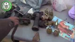 preview picture of video 'بشائر النصر شاهد ما غنمه الجيش الحر بعد تحرير كتيبة الهجانة بدرعا 10 أكتوبر، 2013'
