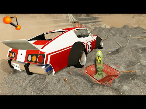 Beamng Drive EXPERIMENT Cars vs Nuclear Bombs #11