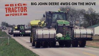 2018 Corn Planting with a Fleet of Big John Deere 4wds