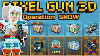 THIS IS THE BEST BATTLE PASS YET OPERATION SNOW - FREE CHESTS, GEMS & WEAPONS | Pixel Gun 3D