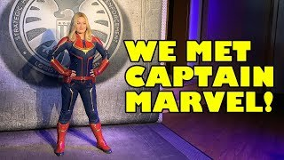Captain Marvel! We met her! First ever character appearance! Marvel Day At Sea - Disney Cruise Line