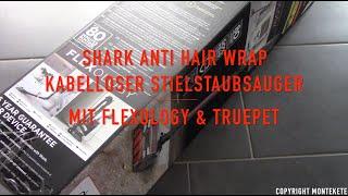 Shark Anti Hair Wrap Kabelloser Stielstaubsauger mit Flexology & TruePet