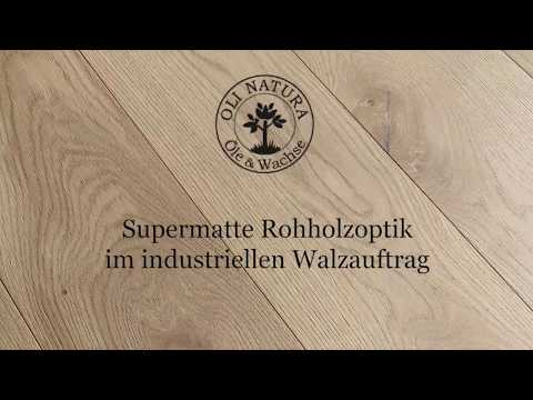 Supermatte Rohholzoptik mit OLI-NATURA im industriellen Walzauftrag
