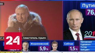 Владимир Путин выступил на митинге на Манежной площади - Россия 24