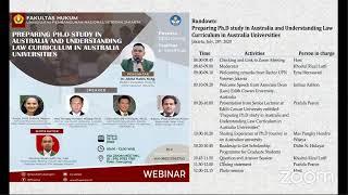 Preparing Ph.D Study and Understanding Law Curriculum in Australian Universities