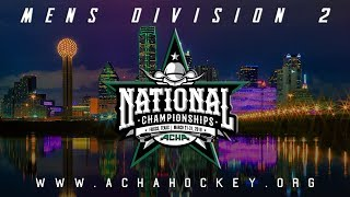 2019 ACHA Men's D2 National Championships (Game 16): UMASS-AMHERST (NE1) vs. TRINE (C3)