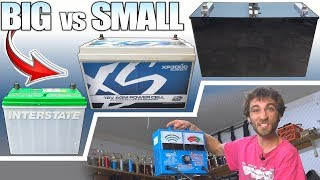 BIG vs SMALL Car Batteries w/ Harbor Freight LOAD TESTER | 12V Flooded + AGM & Lithium Battery Test