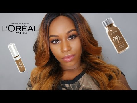 Loreal True Match Foundation N8 + Concealer med/deep Review/Demo