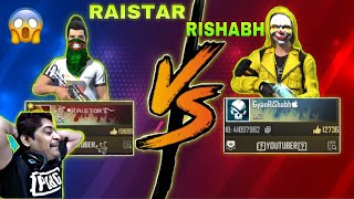 RAISTAR VS GYANRISHABH 🔥 GYAN GAMING OP LIVE REACTION ON LIVE STREAM 🔥 OP HEADSHOTS 😱