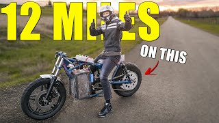 Riding the ELECTRIC CAFE RACER for 12 Miles (First Extended Test)