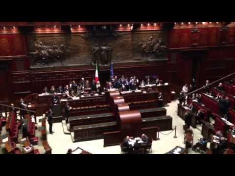 Prima votazione alla Camera