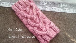 Heart Cable Pattern | Intermediate