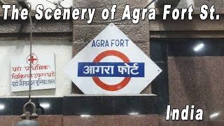 preview picture of video 'SCENERY OF AGRA FORT STATION_(アグラ・フォート駅)'