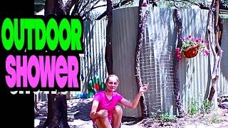 DIY Rustic Outdoor Shower Construction with Solar Hot Water for Cheap! (P.4)