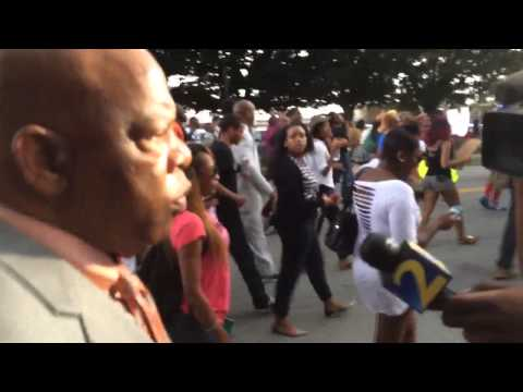 Rep. John Lewis Marches in Atlanta in solidarity with protestors in Ferguson