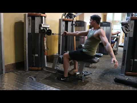Seated Cable Row with twist
