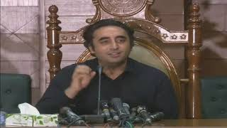 Live: Chairman PPP Bilawal Bhutto Zardari addressing a press conference at Sindh Assembly Auditorium