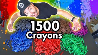 MELTING 1000 CRAYONS INTO ONE MONSTER CRAYON!