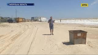 На Азовском побережье в результате сильного шторма затопило курорт Кирилловку