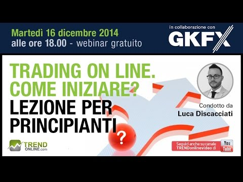 Optioni bunarie line di tendenza