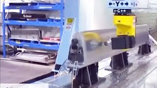 Aerospace Leading Edge CNC Machining Video of a 5 Axis Gantry CNC Router