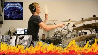 Metallica - Fight Fire with Fire [Drum Cover /w Foot Cam]