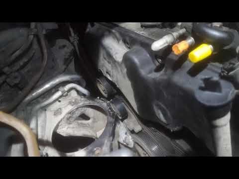 Фото к видео: Замена ремня ГРМ P9X рено эспейс / Replacing the timing belt Espace Renault P9X