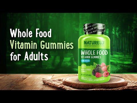 NATURELO, علكات فيتامين الغذاء الكامل للبالغين، بنكهة التوت، 120 علكة