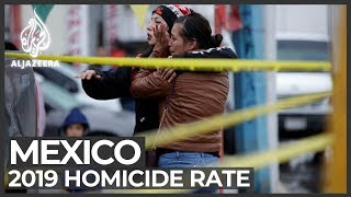 Mexico violence: Homicide rate reached record numbers in 2019
