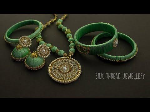Silk Thread Jewellery   Handmade Jewellery   Jewellery Making