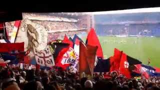 preview picture of video 'Gradinata Nord Genoa Milan You'll never walk alone Inno'
