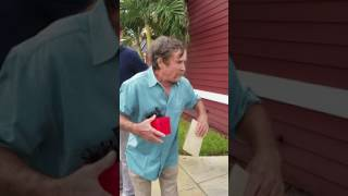 Giving Dad His Surprise Birthday Gift