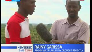 Garissa residents welcome open skies as rains start after a ravaging drought hit the region