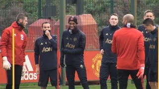 Manchester United Train Ahead Of Champions League Match Against Juventus