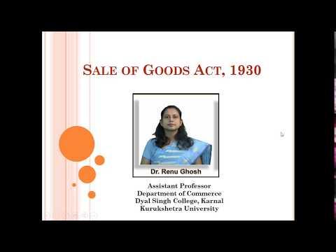 B.Com 2nd Semester - Sale of Goods Act,1930 Part-1