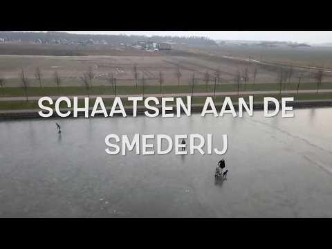 VIDEO   Primeur in nieuwbouwwijk De Gilden in Dronten: schaatsen aan de Smederij