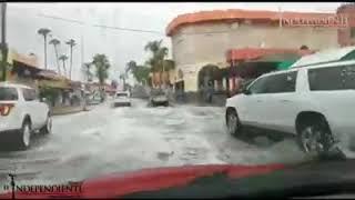 BASTÓ una pequeña lluvia este jueves para que el drenaje de #CSL