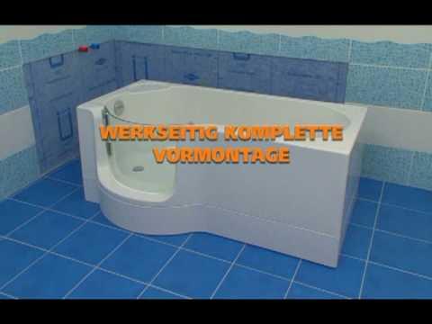 Badewanne mit Tür, Dusch-Badewanne, Duschen Baden, Bad Dusche,Kleinbad, kleines Bad