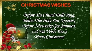 30+ Best Christmas Wishes – Merry Christmas Card Wishes & Messages for Family and Friends
