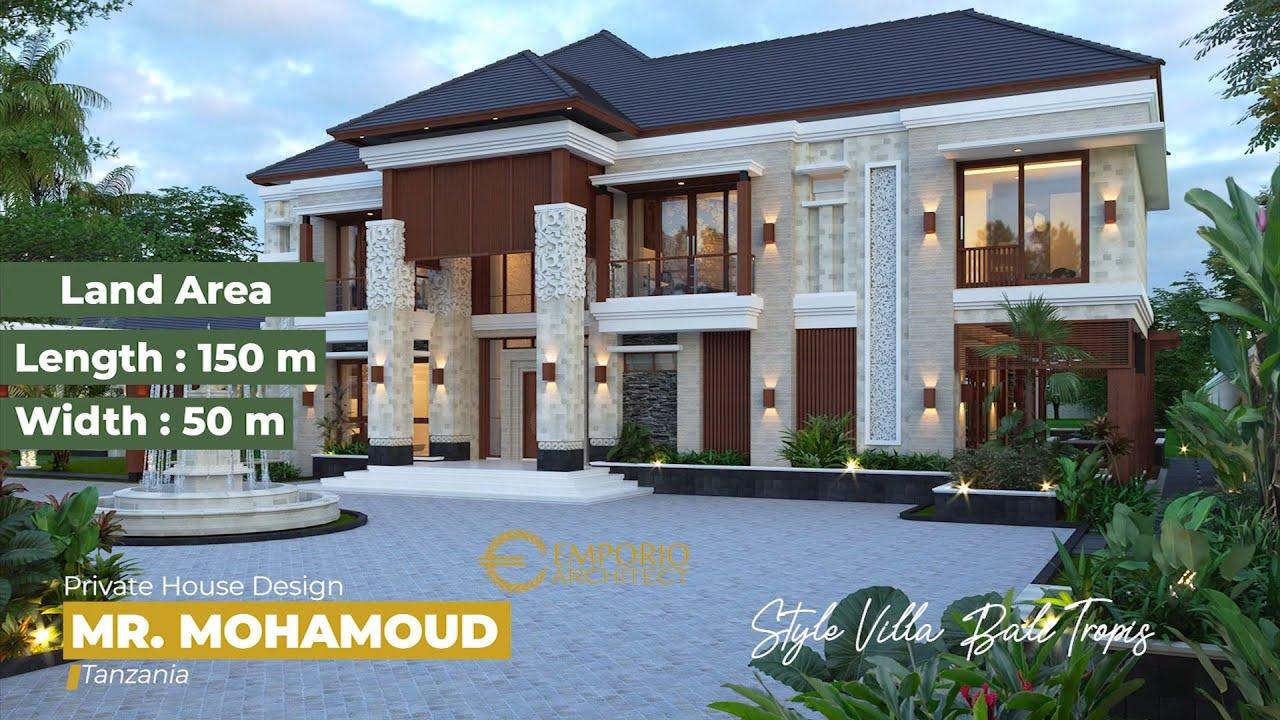 Video 3D Desain Rumah Villa Bali 2 Lantai Mr. Mohamoud di Tanzania