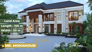 Video Mr. Mohamoud Villa Bali House 2 Floors Design - Tanzania