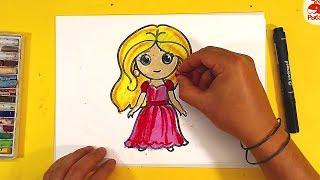 Как нарисовать БАРБИ ПРИНЦЕССУ / уроки рисования для детей