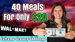 40 MEALS FOR $20 | EXTREME GROCERY BUDGET CHALLENGE | SAVE MONEY | WHATS FOR DINNER | JULIA PACHECO