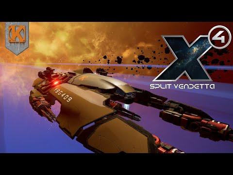 X4: Foundations - Split Vendetta | A DERELICT DESTROYER | Let's Play X4 Gameplay #5