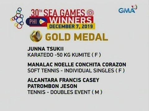 [GMA]  24 Oras: 30th SEA Games Winners December 7, 2019