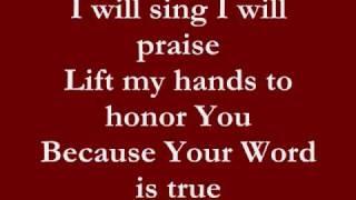 I will sing lyrics- Don Moen