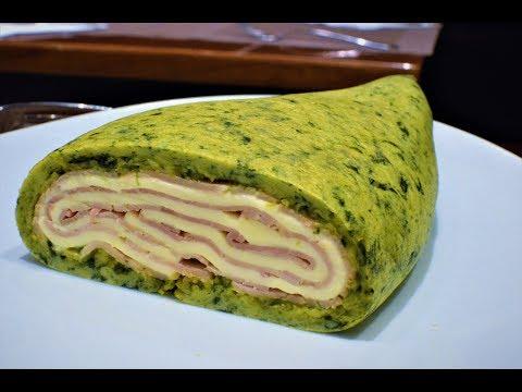 Prepara Una Tortilla Francesa De Espinacas Con Jamón y Queso